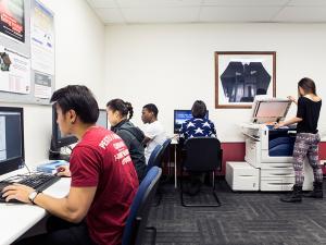 Designated study area and printing facilities