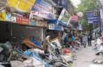 Devastation in a Thai street in the wake of the 2004 tsunami