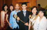 SPECIAL HONOUR: Edward Ng was joined by his family to celebrate his selection as macebearer and also receiving his Bachelor of Commerce (Accounting) – (from left) Delicia, Sharon, Garry, Mary and Stephanie Ng Photo by Ben Osborne