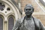 <i>Sir Thomas Elder</i> E A B Drury (1856-1954) London 1900-1903 bronze 2.86m statue on granite pedestal with bronze panels 3.76m Photo by Chris Tonkin