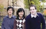 Students and graduates involved in the AIESEC Global Exchange Program (from left): Graigan Panosot, Isya Hanum and Rowan Gill Photo by Candy Gibson
