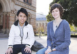 Former Headstart Scholars – and now University of Adelaide students – Minh Bui and Annie Conway Photo by David Ellis