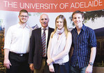 Federal Minister for Indigenous Health, Rural and Regional Health the Hon. Warren Snowdon (2nd from left) pictured with University of Adelaide rural medical students (from left) Timothy Bromley, Melissa Shields and Alex Lovell Photo by Chris Tonkin