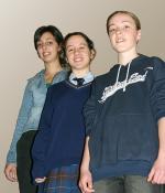 (from left) Renata Petrakis, Antonietta Antonino  and Victoria Dootson. Photo Howard Salkow