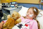 Eight-year-old Bethany undergoes an overnight study for sleep apnoea at the Sleep Disorders Unit at the Women�s and Children Hospital