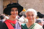 Dr Lata Jayaram graduated with her PhD in Medicine from the University of Adelaide on 28 September, 57 years after her mother Laletha achieved her medical degree, also from Adelaide. The two are pictured after the ceremony. Laletha and her husband flew from Auckland for her daughter's graduation. Dr Jayaram is now working at the Monash Medical Centre in Melbourne. Photo by Candy Gibson