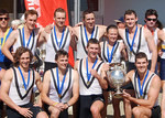 The winning team from the Adelaide University Boat Club, which secured the Oxford and Cambridge Cup two years running Photo courtesy of the Adelaide University Sports Association