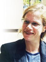 Novelist and staff member Eva Hornung