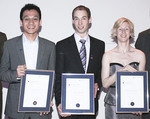 From left: Students Hungyen Lin, Jeff Newman and Anastasia Woolmer