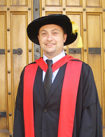Dr Jared Thomas graduated with a PhD in Creative Writing.  A long-time Indigenous author, Dr Thomas's thesis is titled <i>The Process and Importance of Writing Aboriginal Fiction for Young Adult Readers</i>. Photo courtesy of Jared Thomas
