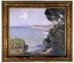 Arthur Streeton, <i>View from Barrett's Point, Portsea</i>, oil on canvas, 1921.  University of Adelaide Visual Arts Collection.