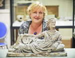 Classics lecturer Dr Margaret O'Hea in the University's Museum of Classical Archaeology Photo courtesy of <i>Messenger Community Newspapers</i>