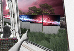 Susie's montage depicts how digital media can be used to create a moving gallery of images for rail commuters.