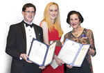 Her Excellency, Professor Marie Bashir AC CVO, NSW Governor and Administrator of the Government of the Commonwealth of Australia, presented Alexandra and James with their scholarship certificates at a ceremony in Darwin in April. Photo courtesy of DigiFilm Australia