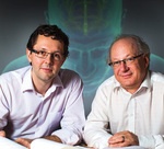 Research partners Dr Mark Hutchinson (left) and Professor Paul Rolan.