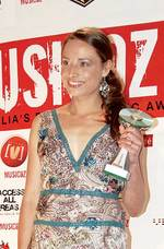 Deanna Djuric receiving her award