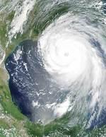 Satellite image of Hurricane Katrina approaching the Gulf Coast in 2005 Image courtesy of MODIS Rapid Response Project at NASA/GSFC