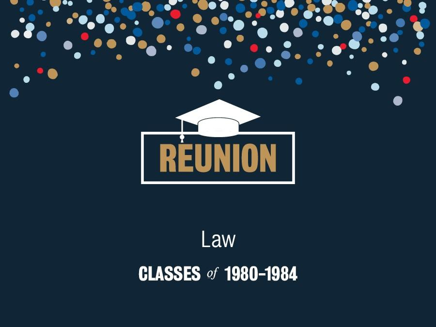 1980 - 1984 Law reunion image