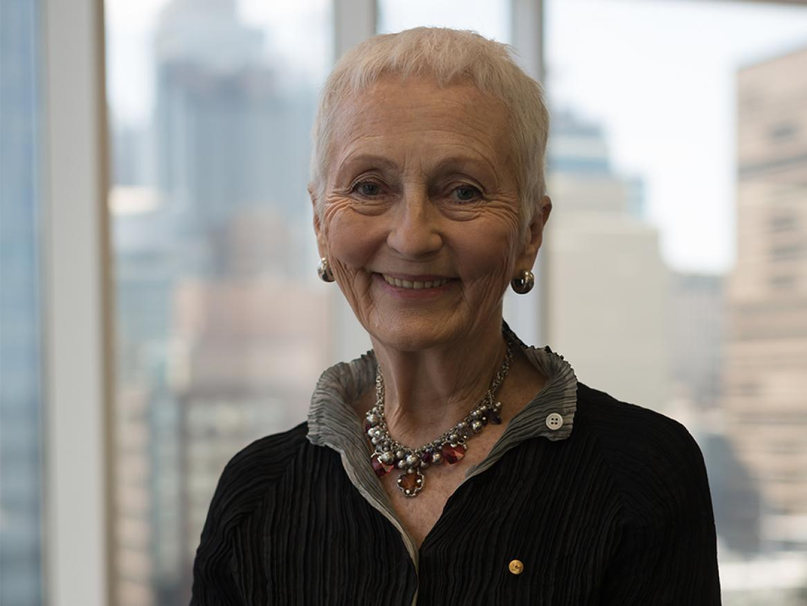 Emeritus Professor Denise Bradley AC, winner of the Distinguished Alumni Awards' Vice-Chancellor's Award 2019