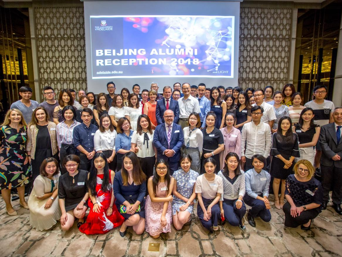 Vice-Chancellor and President of the University of Adelaide Peter Rathjen at the Beijing Alumni event 2018