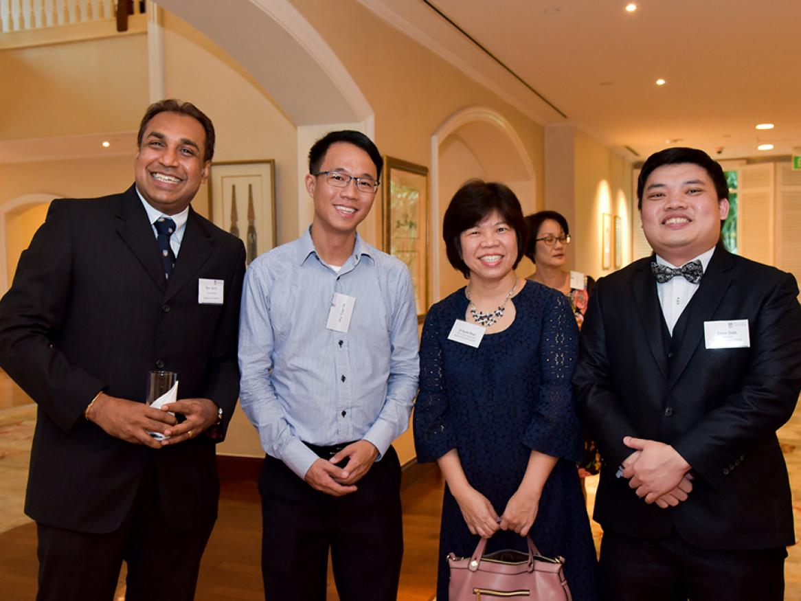Photograph of the committee at the 2017 Singapore Alumni Reception