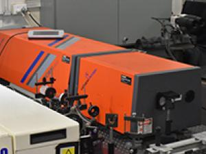SCANMATE dye laser with a frequence doubling unit that is used for planar laser-indcued fluorescnce.