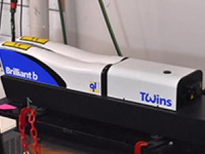 Quantel Twins Nd:YAG laser that is used in Particle Image Velocimetry.