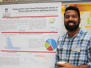 Ketan Patel with his poster