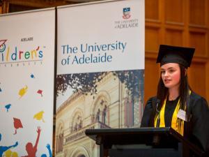 Children's University student speaking