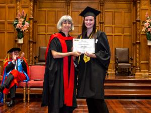 Children's University student graduating