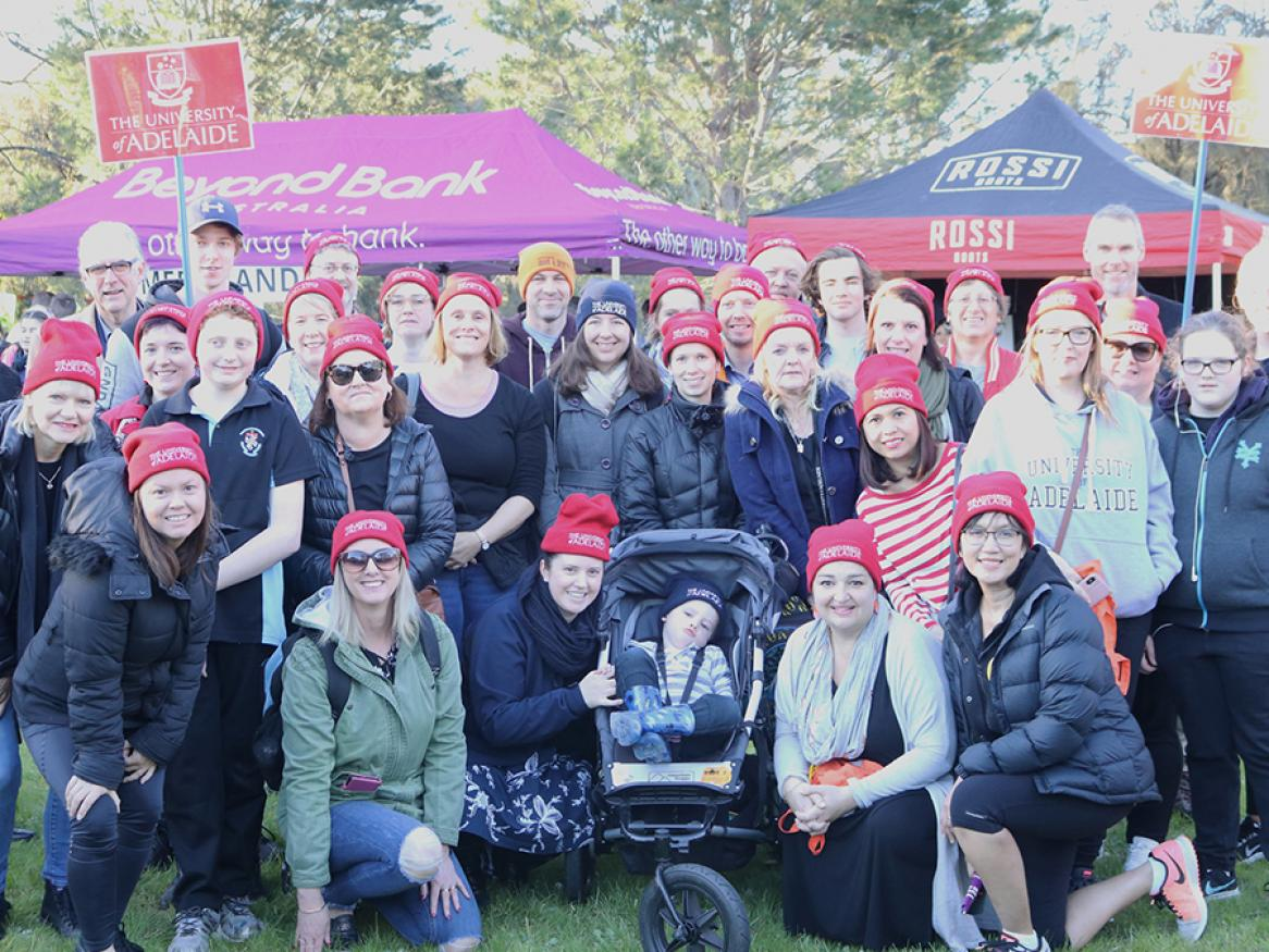 University of Adelaide team that participated in the 2018 Hutt St Centre's Walk a Mile in My Boots