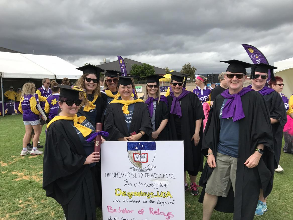 Degreelays team at the 108 Relay for Life organised by Cancer Council