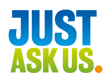 Just ask us logo