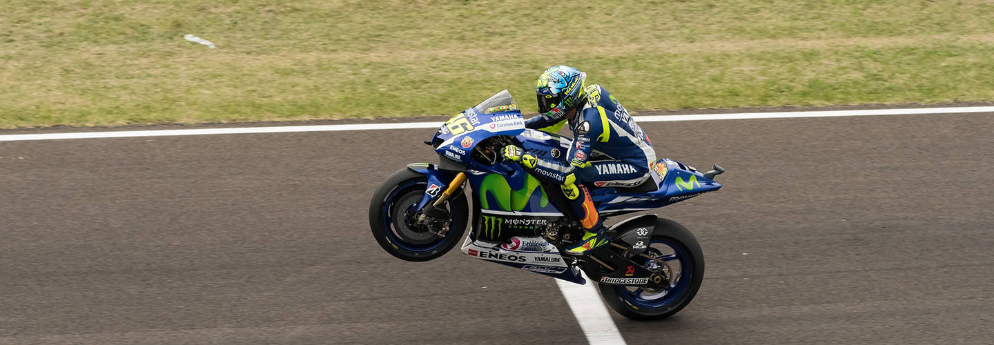 motogp bike finishing race - image