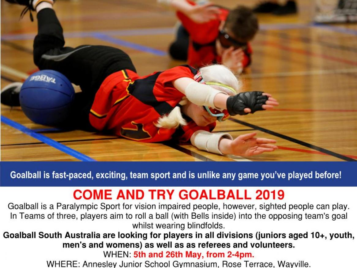 GoalBall South Australia - Come and Try Event 2019