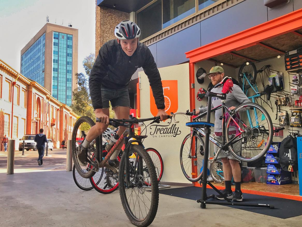 Treadly on Campus pop-up shop at North Terrace