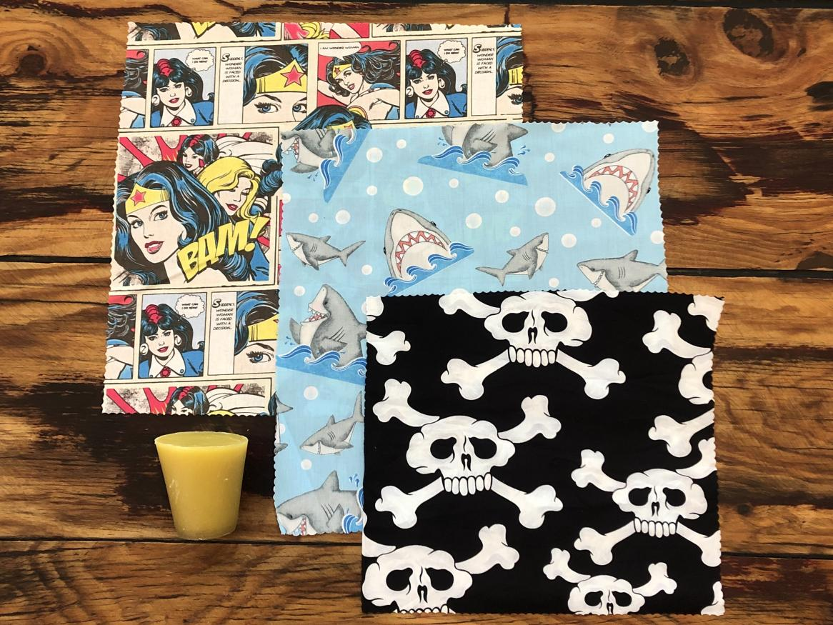 Beeswax Wrap kit with wax and cotton material