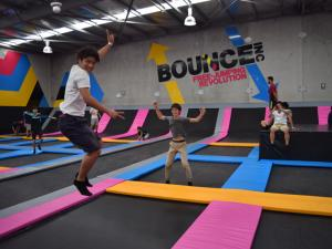 ELC students at Bounce