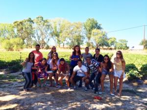 ELC students strawberry picking
