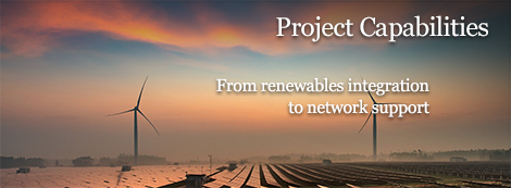 Project capabilities - from renewables integration to network support