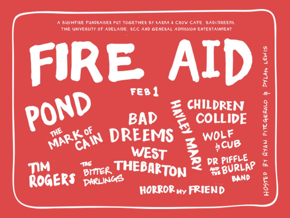 Fire Aid at the University of Adelaide
