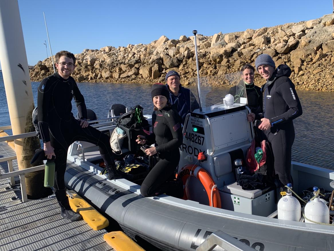 Reef restoration team