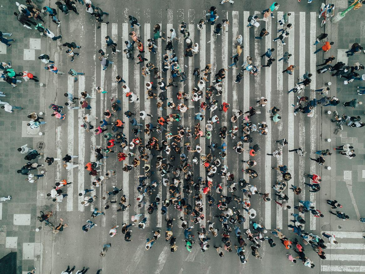 People in a crowd