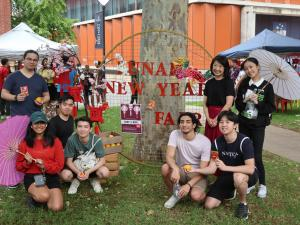 Professor Jacqueline Lo (PVCI) with student attendees