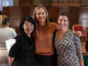L-R: Professor Jacqueline Lo, University of Adelaide; Ms Elizabeth Day, DFAT; Ms Lucy Rhydwen-Marett, DFAT