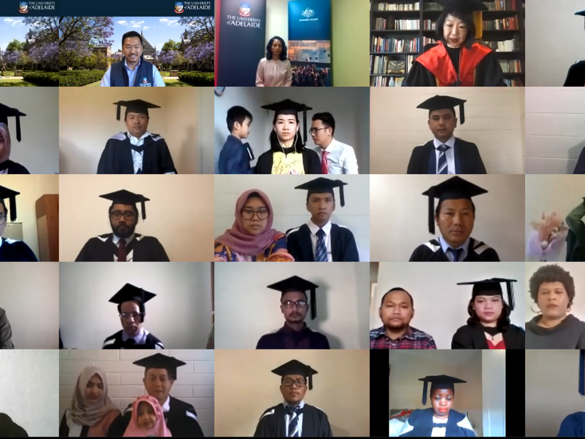 AAS Virtual Graduation students