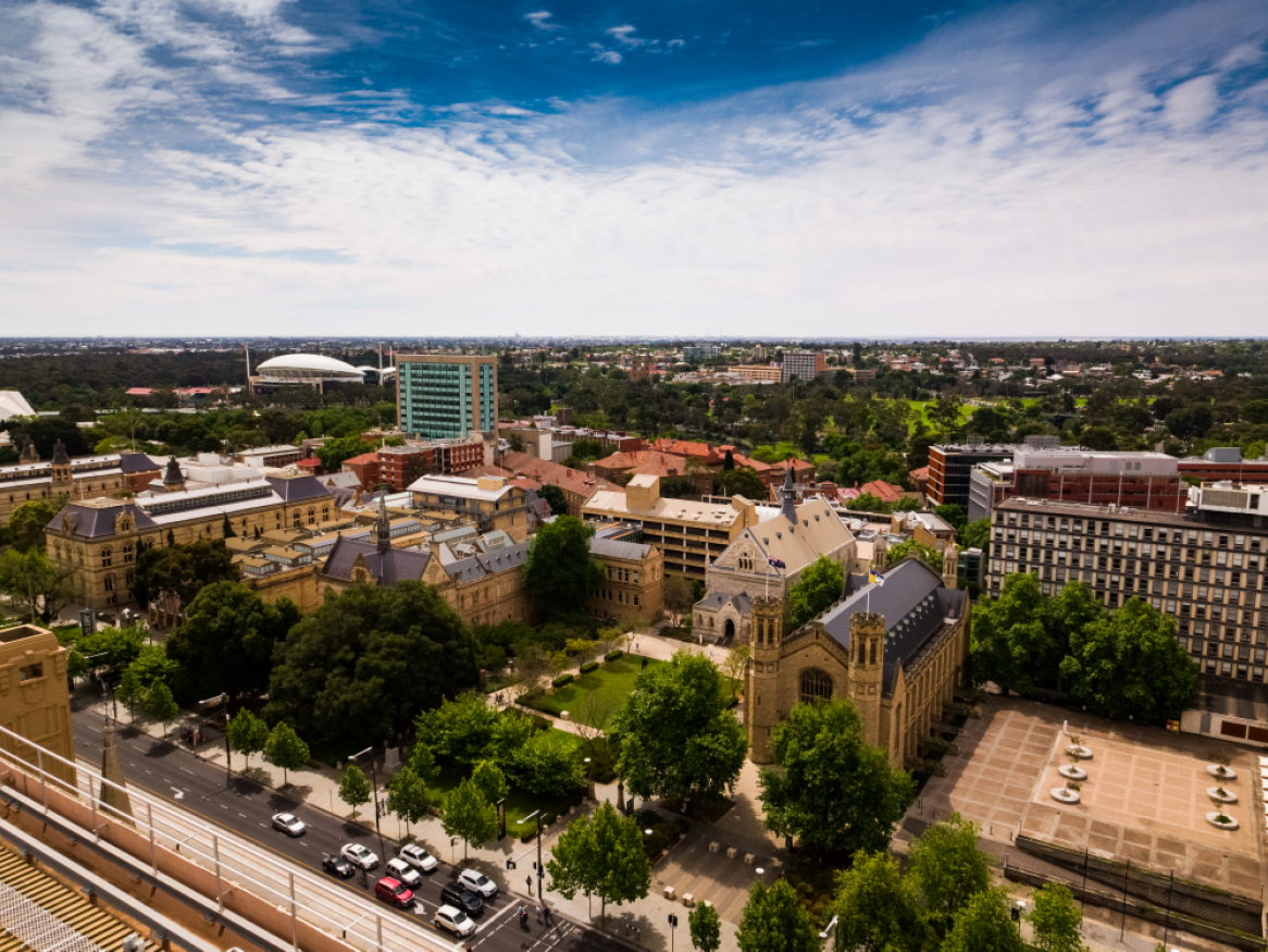 The University of Adelaide campus in the city of Adelaide