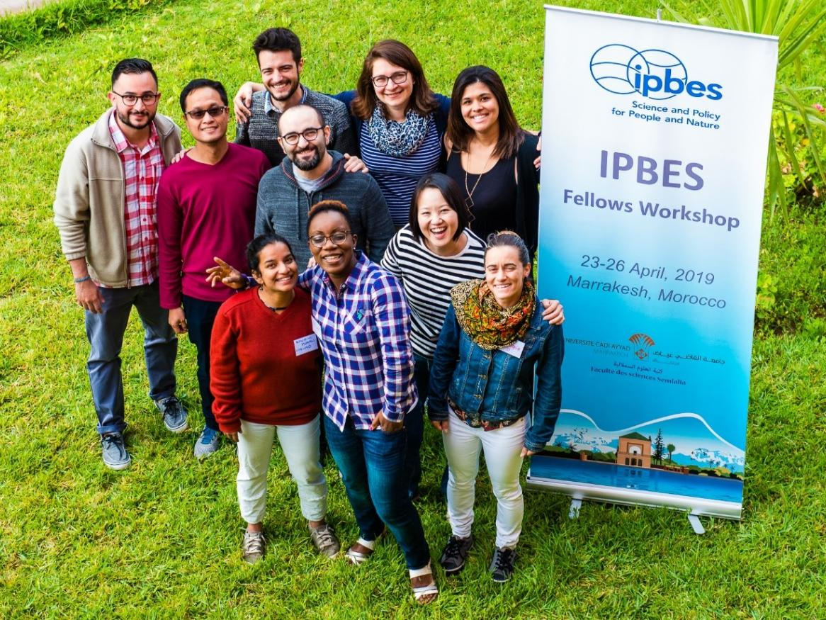 Sacha with the other Fellows of IPBES