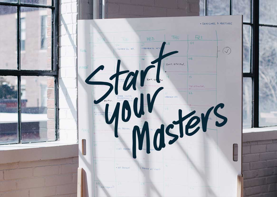 Start your masters - Study postgraduate