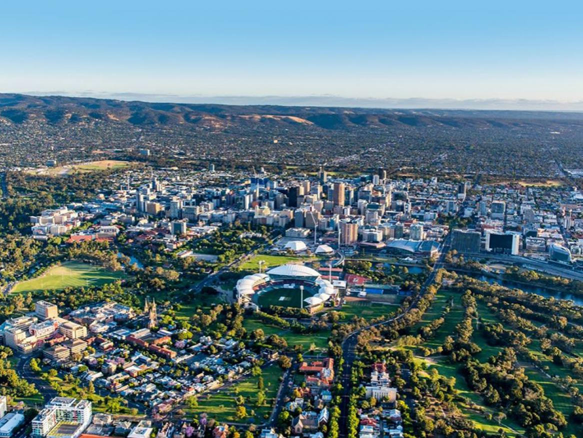 The city from Adelaide from above